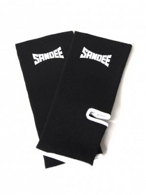 Sandee Premium Black & White Ankle Supports (pair)