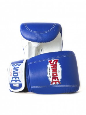 Sandee Velcro Blue & White Leather Bag Glove