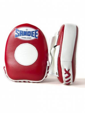 Sandee Leather Red & White Mini Focus Mitt