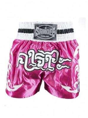 Sandee Respect Pink/White/Black Thai Shorts
