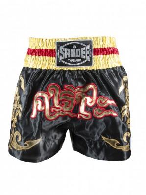 Sandee Respect Black/Gold/Red Thai Shorts