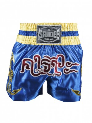 Sandee Respect Blue/Yellow/Red/White Thai Shorts