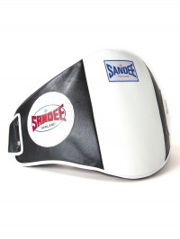 Sandee Velcro Black & White Leather Belly Pad