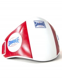 Sandee Velcro Red & White Leather Belly Pad