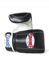 Sandee Velcro Black & White Leather Bag Glove