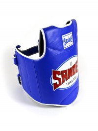 Sandee Blue & White Synthetic Leather Authentic Body Shield