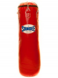 Sandee Red Full Leather Punch Bag