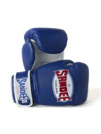 Sandee Authentic Velcro Blue & White Synthetic Leather Boxing Glove