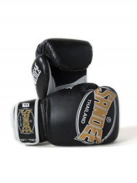 Sandee Cool-Tec Velcro Black, Gold & White Synthetic Leather Boxing Glove