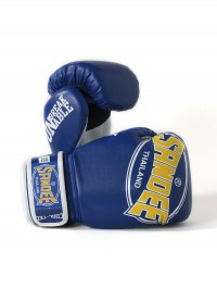 Sandee Cool-Tec Velcro Blue, Yellow & White Kids Synthetic Leather Boxing Glove