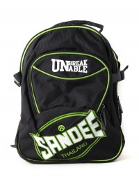 Sandee Heavy-Duty Black & Green Backpack