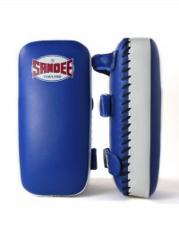 Sandee Large Extra Thick Blue & White Flat Thai Kick Pads