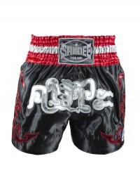 Sandee Respect Black/Red/Grey/White Thai Shorts