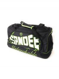 Sandee Medium Heavy-Duty Black & Green Holdall / Gym Bag