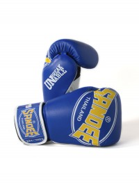 Sandee Cool-Tec Velcro Blue, Yellow & White Leather Boxing Glove