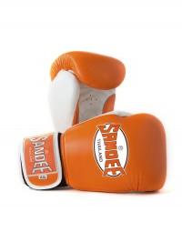 Sandee Fluro Velcro Orange & White Leather Boxing Glove