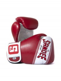 Sandee Sport Velcro Red & White Synthetic Leather Boxing Glove