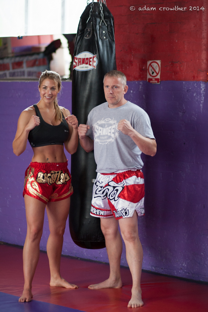 Gemma Atkinson Muay Thai Training with Darren Morris