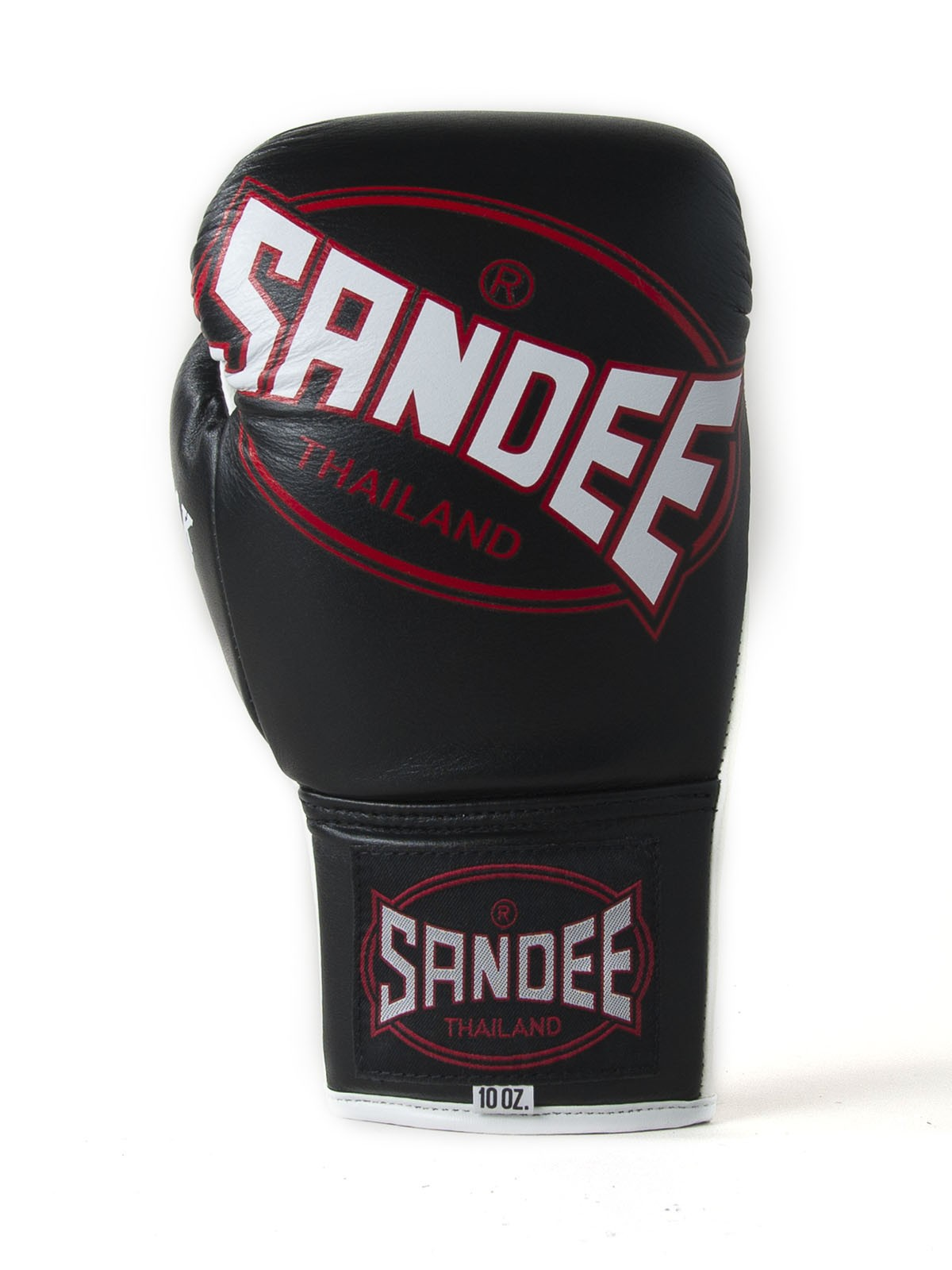 Sandee Lace Up Pro Fight Red Leather Muay Thai Boxing Gloves
