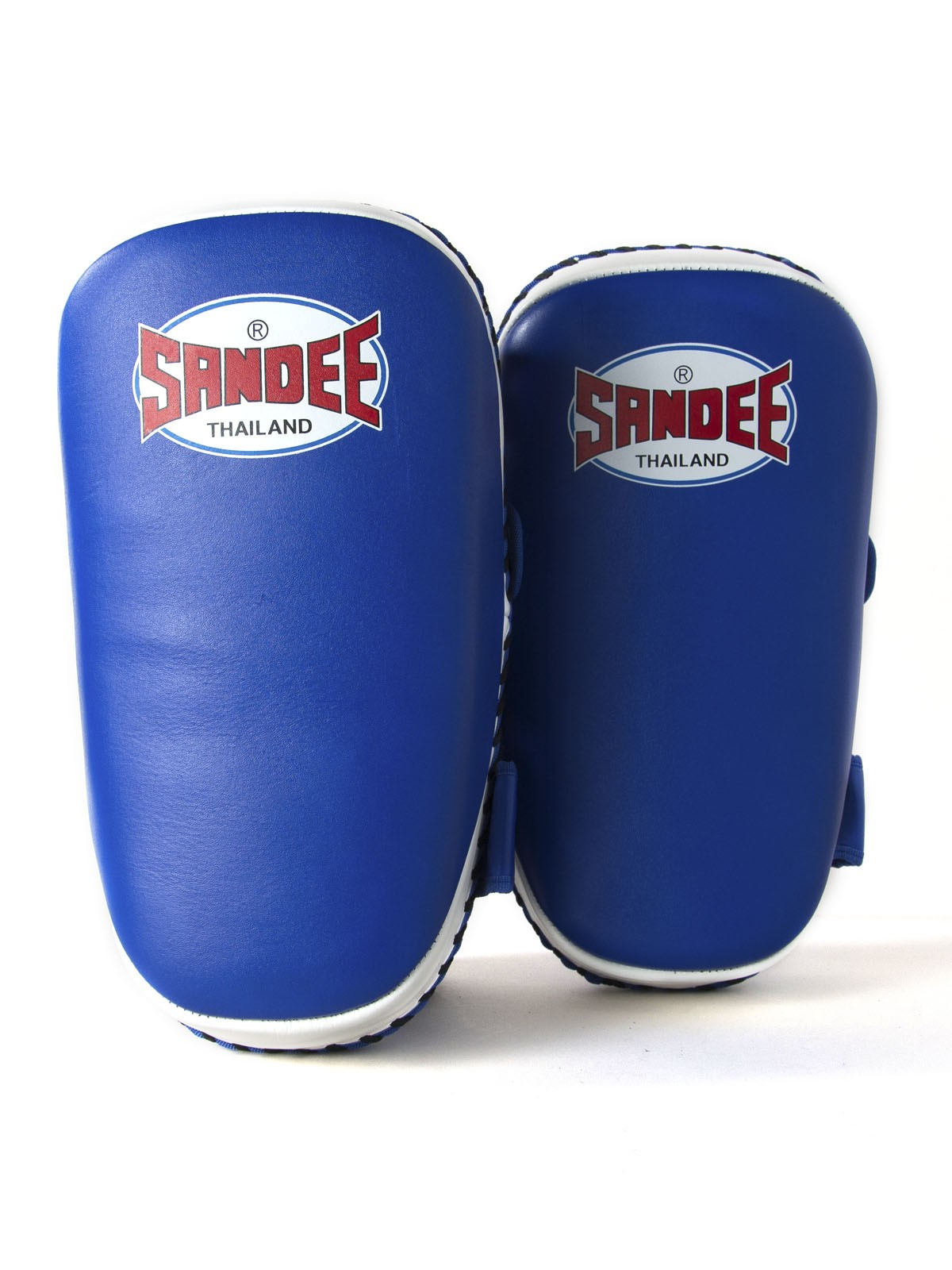 Sandee Blue /& White Curved Thai Leather Pads Kick Boxing Muay Thai