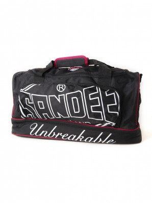Sandee Medium Heavy-Duty Black & Red Holdall / Gym Bag