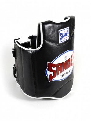 Sandee Black & White Synthetic Leather Authentic Body Shield