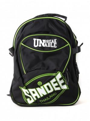 Sandee Heavy-Duty Black & Green Backpack