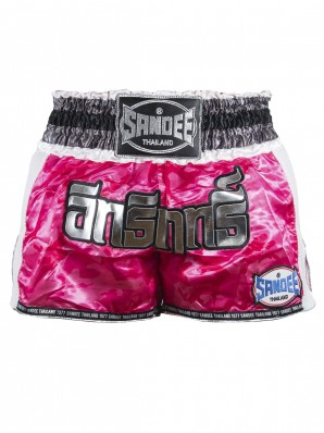 Sandee Pink/White/Silver/Black Supernatural Power Shorts