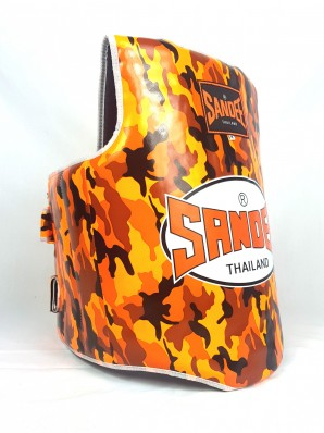Sandee Camo Orange & White Synthetic Leather Authentic Body Shield