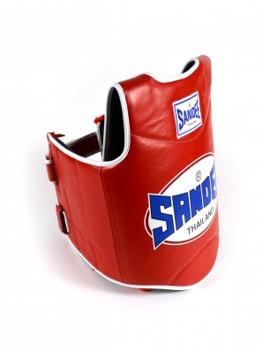 Sandee Red & White Synthetic Leather Authentic Body Shield