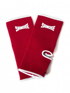 Sandee Premium Red & White Ankle Supports (pair)
