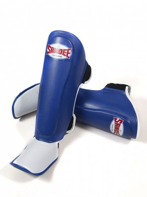 Sandee Authentic Blue & White PU Boot Shinguards