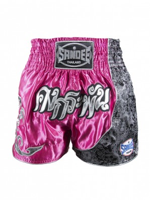 Sandee Unbreakable Pink/White/Black Thai Shorts
