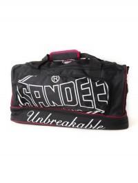Sandee Large Heavy-Duty Black & Red Holdall / Gym Bag