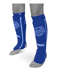 Sandee Blue & White Cotton Slip-on Competition Shinguard