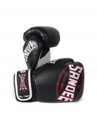 Sandee Cool-Tec Velcro Black, White & Red Synthetic Leather Boxing Glove