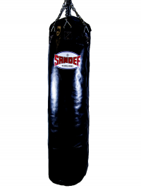 Sandee Black Full Leather Punch Bag