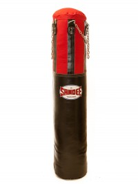 Sandee Black & Red Half Leather Punch Bag