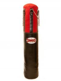 Sandee Black & Red Half Leather Punch Bag