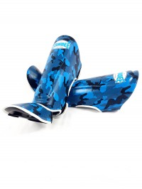 Sandee Authentic Camo Blue & White Synthetic Leather Boot Shinguard