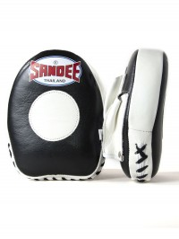 Sandee Leather Black & White Mini Focus Mitt