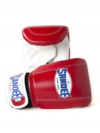 Sandee Velcro Red & White Leather Bag Glove