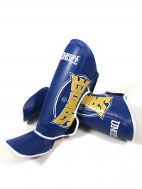 Sandee Cool-Tec Blue, Yellow & White Leather Boot Shinguard