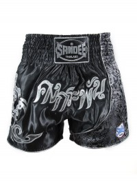 Sandee Unbreakable Black/SilverThai Shorts