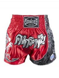 Sandee Unbreakable Red/Black/White Thai Shorts