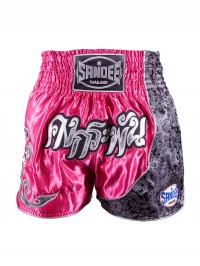 Sandee Unbreakable Candy Pink/White/Black/Silver Thai Shorts