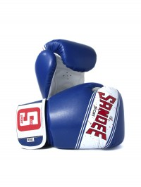 Sandee Sport Velcro Blue & White Synthetic Leather Boxing Glove