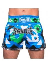 Sandee Inca Blue/Black/White/Green Shorts