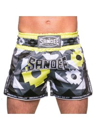 NEW Sandee Inca Carbon/Black/White/Yellow Shorts
