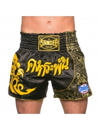 NEW Sandee Unbreakable Black/Yellow Thai Shorts